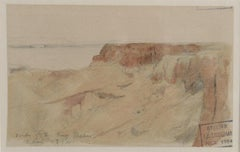 Tomb of the Kings, Thebes, Egypt - watercolour landscape by F. A. Bridgeman