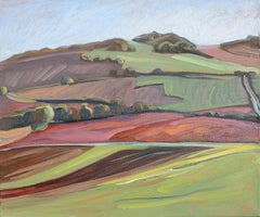 """Puy d'Aoust"", Impressionist Hilly Landscape Oil Painting"