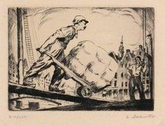 WPA Dockers Etching, C. 1930