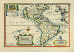 Antique Map of Americas with California as Island