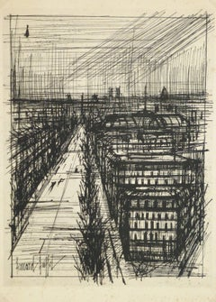 Expressionist View of Paris Rooftops - C. 1950