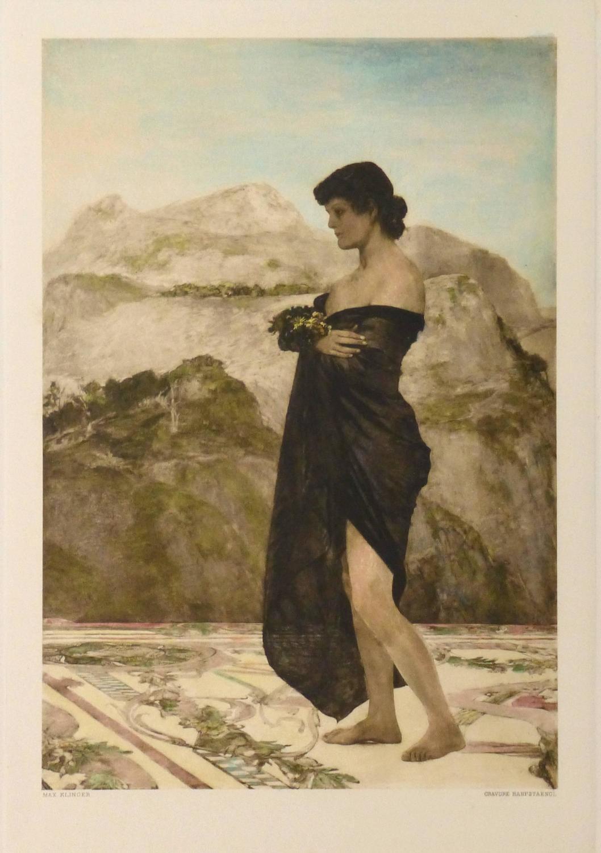 Max Klinger Antique Aquatint Etching Jugendstil For