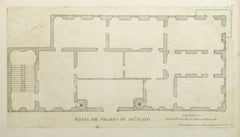 Antique Architectural Engraving - Asti Palace