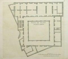 Antique Architectural Engraving - Santo Spirito Palace