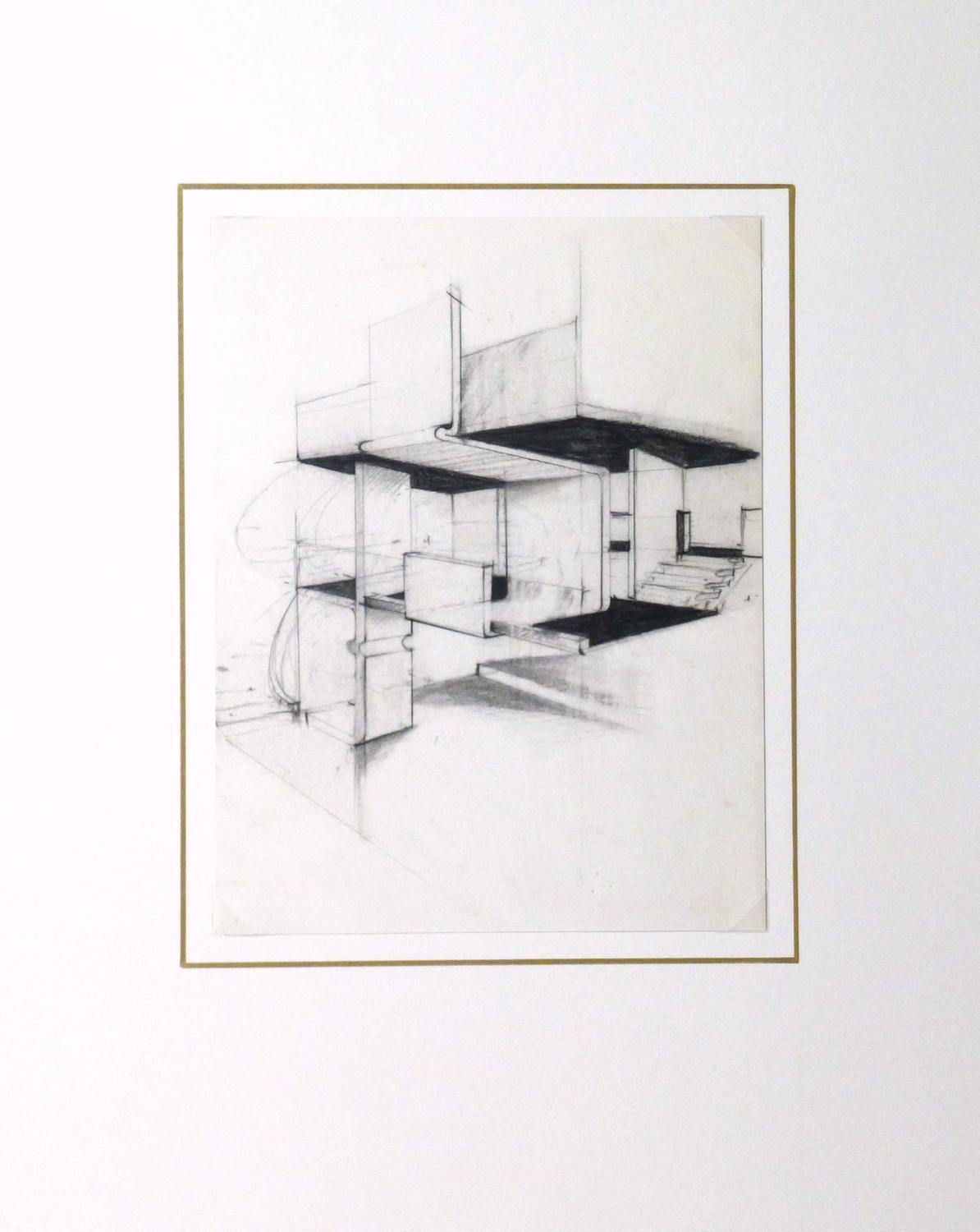 Unknown Vintage Architectural Drawing For Sale At 1stdibs