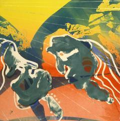 American Abstract Modern Monotype - Sunrise