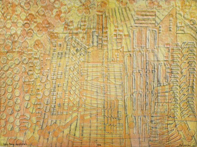 American Modern Art - Hong Kong Confusion Yellow