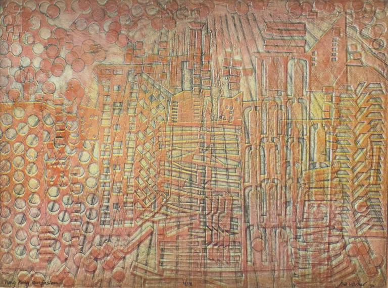 American Modern Art - Hong Kong Confusion Orange