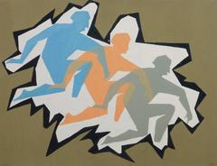 Vintage French Abstract - Kneeling Trio