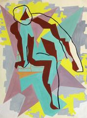 Vintage French Abstract - Geometric Nude