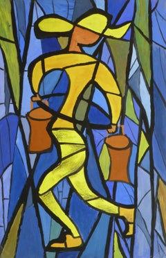 Vintage French Abstract - Water Carrier