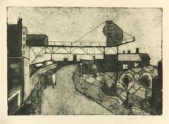 Mid-Century Etching - Industrial Town