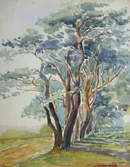 Vintage French Watercolor - Fischbeck
