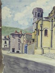 Vintage French Watercolor - Chamalieres