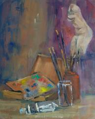 Vintage Oil Still Life - Artist's Studio