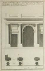 Antique French Copper Engraving - Portico Architectural Details