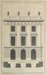 Antique French Copper Engraving - Doric Order Architectural Style