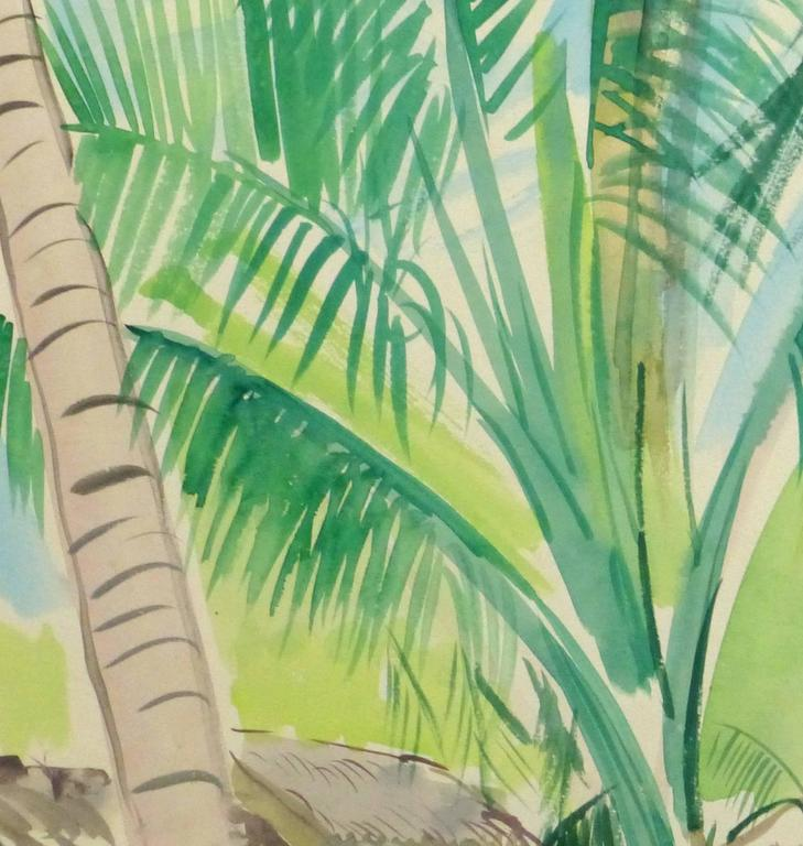 French Watercolor - Tropical Village 2