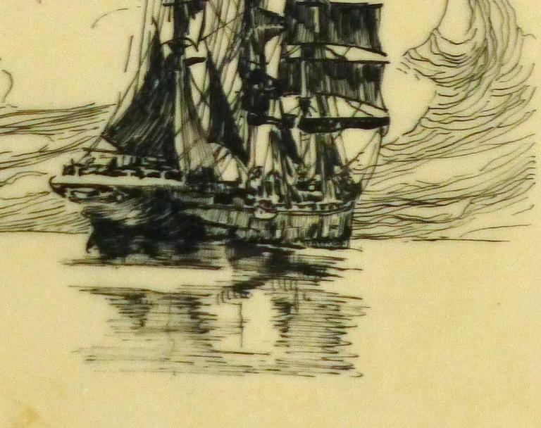 Pen & Ink - Calm Seas 3