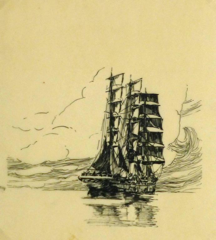 Unknown - Pen & Ink - Calm Seas 1