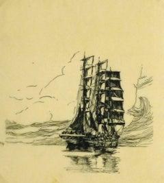 Pen & Ink - Calm Seas