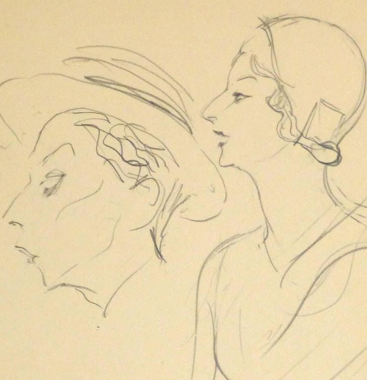 French Pencil Sketch - 1920s Actress 2