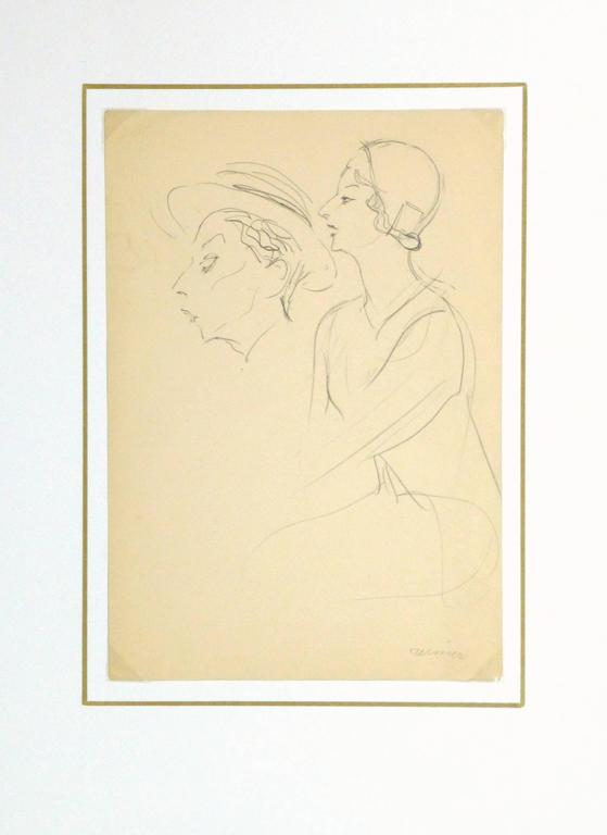 French Pencil Sketch - 1920s Actress 4
