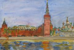 Vintage Landscape - Kremlin, Russia