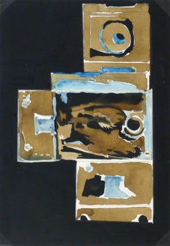 Ink & Watercolor Abstract - Locks