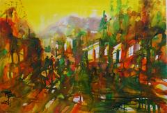 Watercolor Landscape - Forest of Light