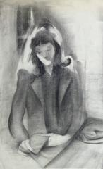 Charcoal Portrait - The Serene Reader