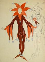 French Theater Costume Sketch - The Jester