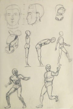 Pencil Sketch - Figure & Faces Study