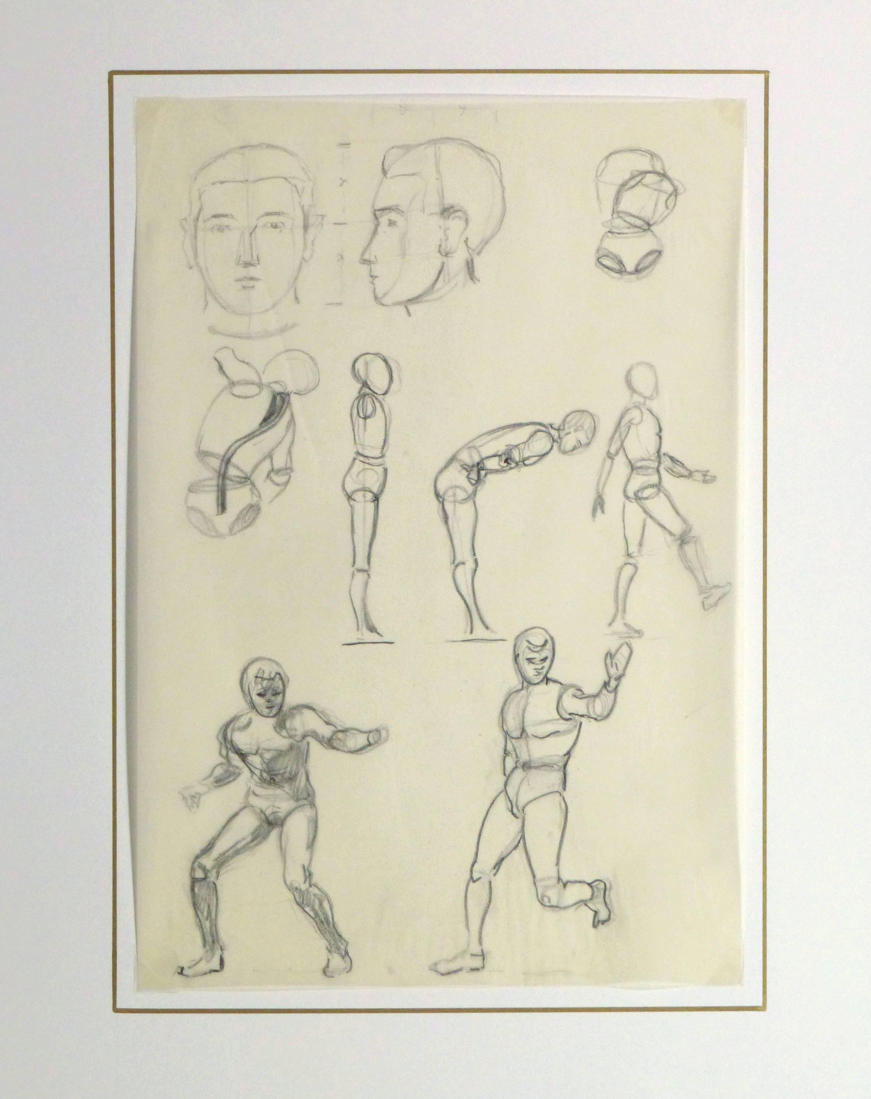 Werner bell pencil sketch figure