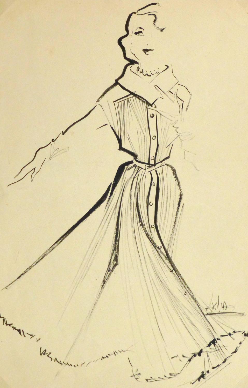 Vintage Fashion Drawings 121
