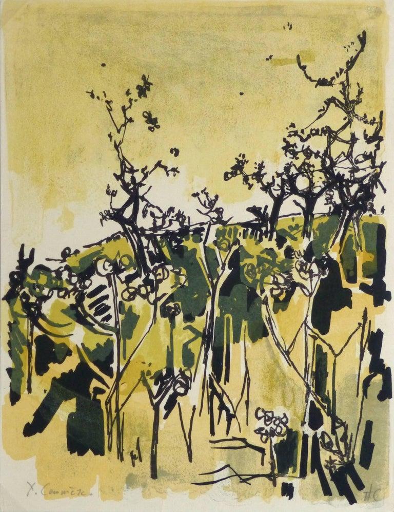 Jean Yves Commère Landscape Print - Abstract - Hors Copie