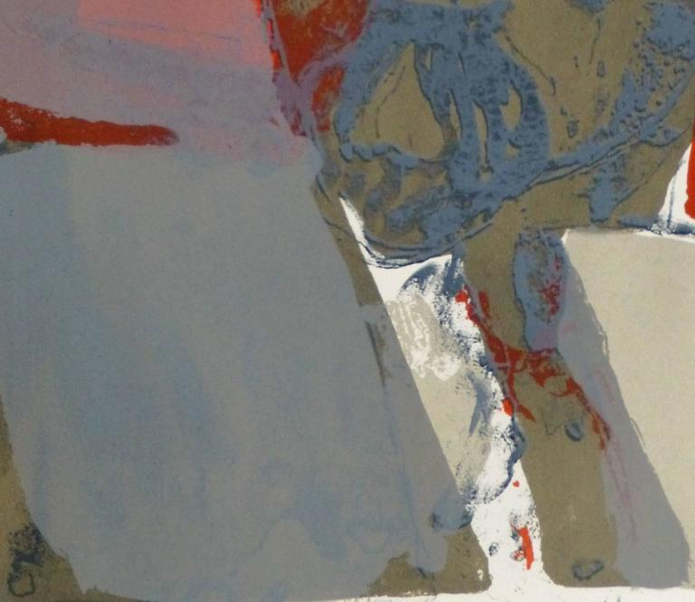 French Abstract - Lenin - Gray Abstract Print by Paul Guiramand