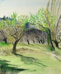 French Watercolor - The Clearing