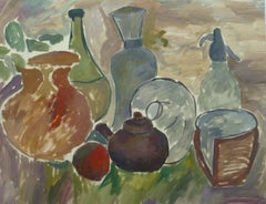 Tempera Pottery Still Life