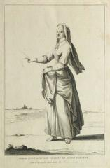 Antique French Engraving - Jewish Woman