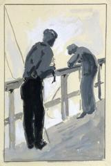 Gouache and Pencil Painting - Day at the Dock