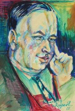 Watercolor & Ink - A Gentlemen's Portrait
