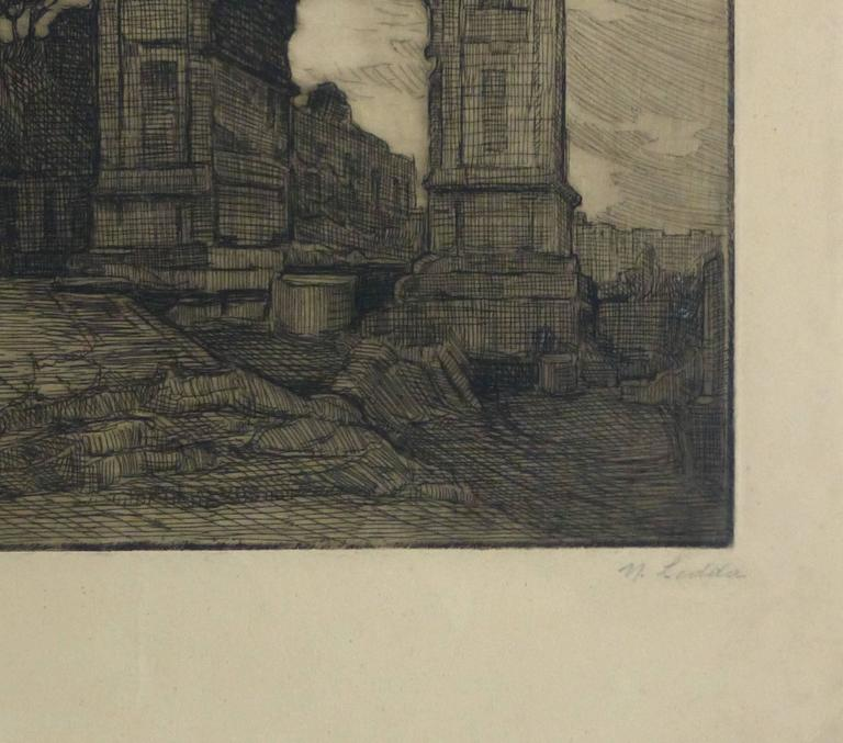 Etching - Regal Remains - Print by Unknown