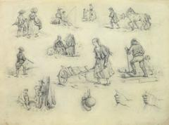French Drawing - The Laborers