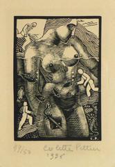 French Woodcut - La Mer et Les Fleuves