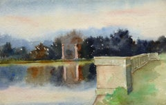 French Watercolor - Twilight Reflection