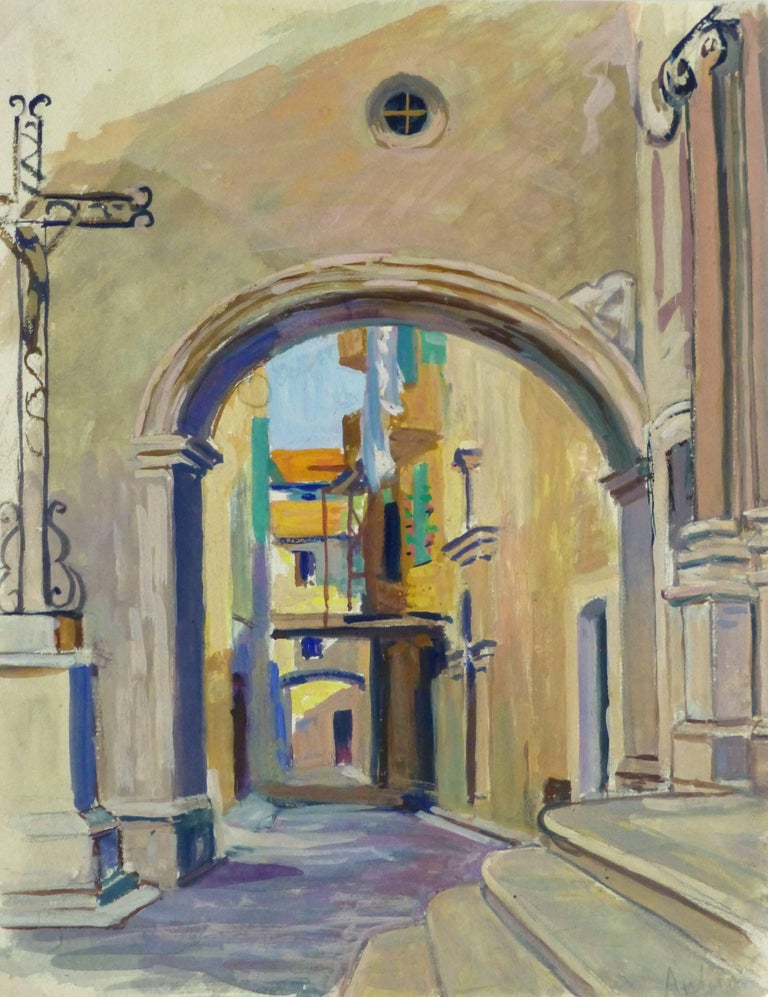 Unknown Landscape Painting - French Landscape - Old City Streets