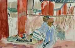 French Watercolor - Island Market