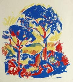 French Serigraph - Sunny Arbor