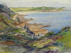 French Watercolor - Le Guerzit Coastline